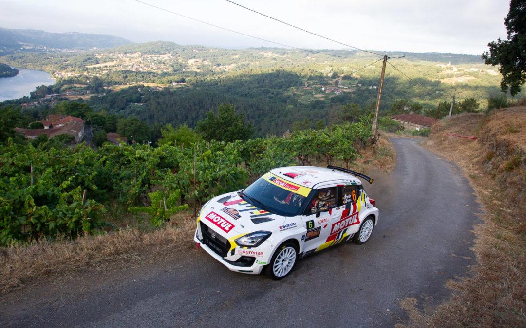 Buen debut de Javier Pardo y Adrián Pérez con el Suzuki Swfit R4lly S en asfalto